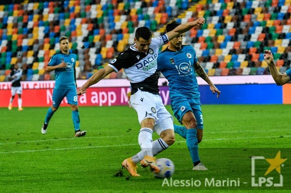 shot of Kevin Lasagna (Udinese Calcio)